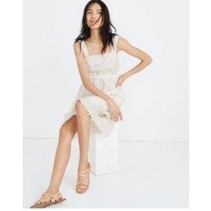 NWT Madewell • Eyelet Tiered Midi Dress